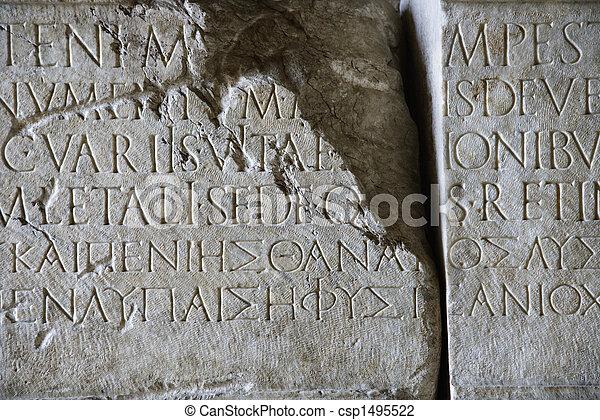 Script in stone. - csp1495522