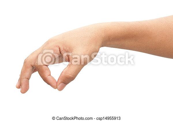 Man hand sign - csp14955913