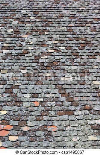 stock illustrationen von altes gekachelt dach bedeckt moos csp1495667 suchen sie eps. Black Bedroom Furniture Sets. Home Design Ideas
