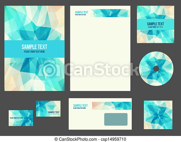 Vector Clip Art of Corporate identity (stationery) for company ...