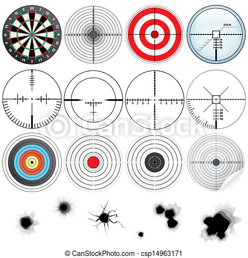 Set of Detailed Crosshairs and Targets - csp14963171