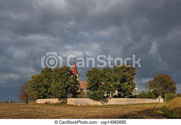 Nice Catholic Church in eastern Europe - village Pac - csp14965685