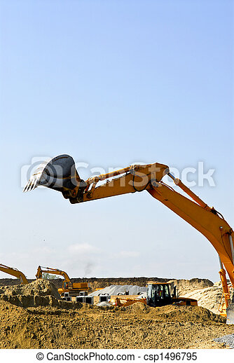 Construction site machines - csp1496795