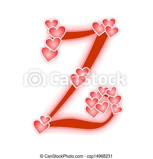 Z Alphabet Love Love Letter  alphabet Z - Love