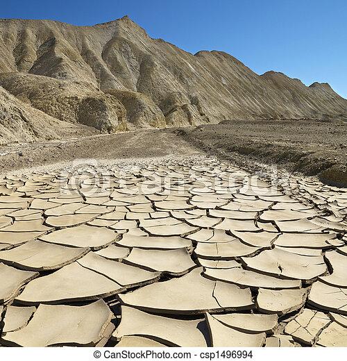 vallée mort, paysage. - csp1496994
