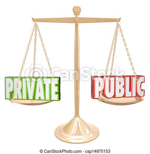 Private Vs Public Information Details Confidential Secrecy - csp14970153
