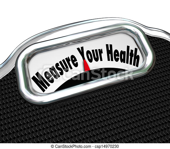 Measure Your Health Scale Weight Loss Healthy Checkup - csp14970230