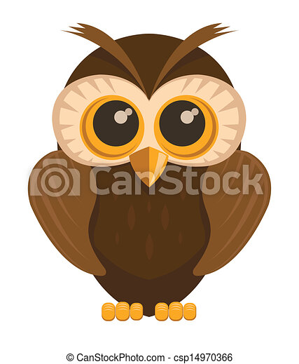 Vector owl bird  - csp14970366