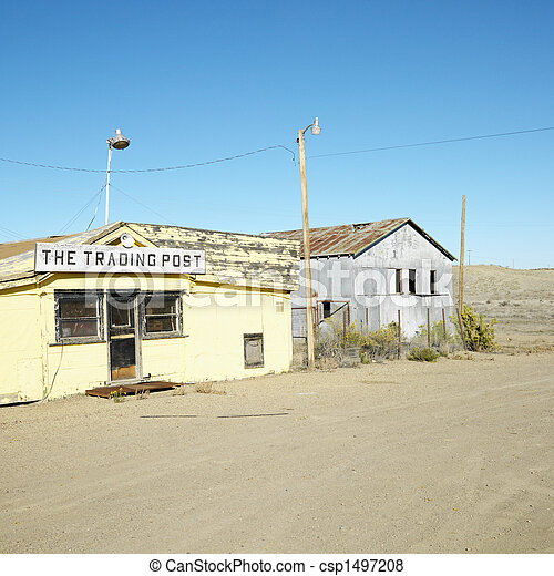 Old trading post. - csp1497208