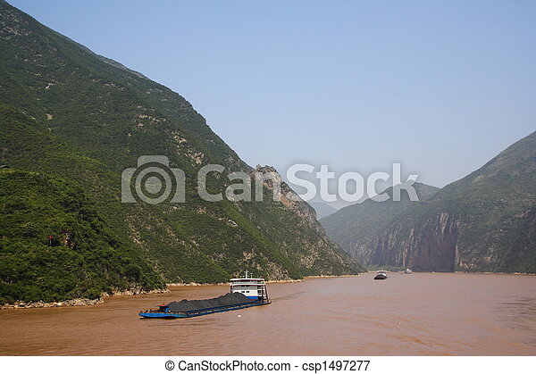 Yangtze River coal transport - csp1497277