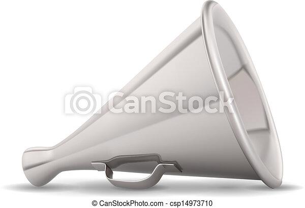 Retro metal speaking trumpet - csp14973710