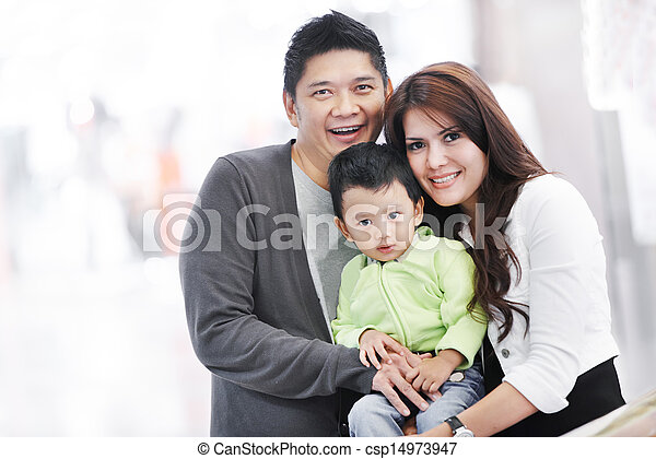 Young adult asian family - csp14973947