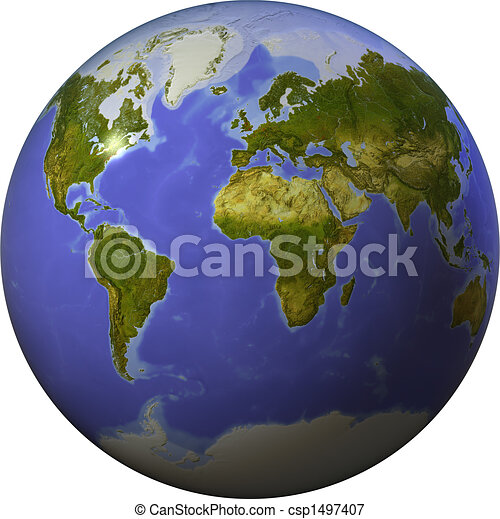 World on one side of a sphere - csp1497407