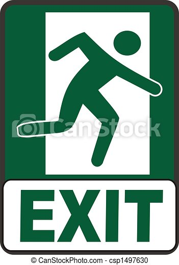 Emergency Exit Sign - csp1497630