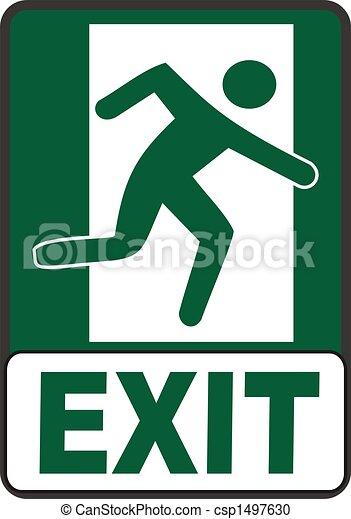 Emergency Exit Sign - csp1497630