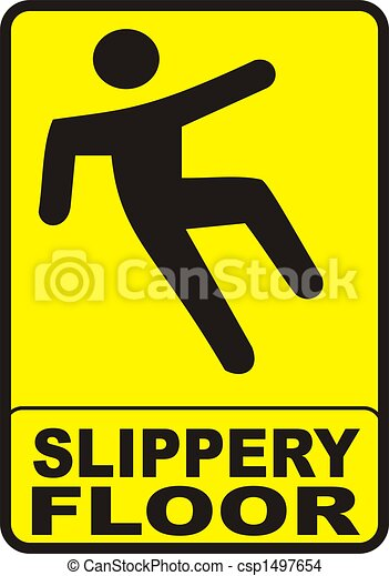Slippery Floor Sign - csp1497654