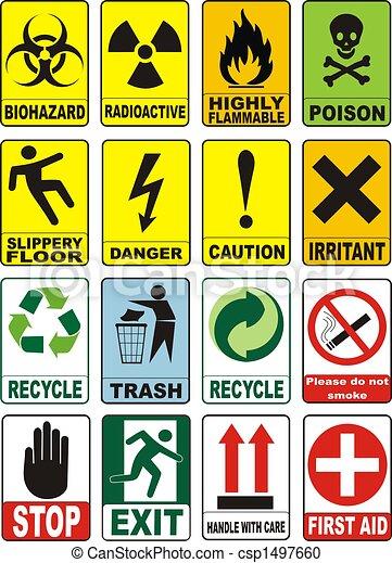 Useful Warning Symbols - csp1497660