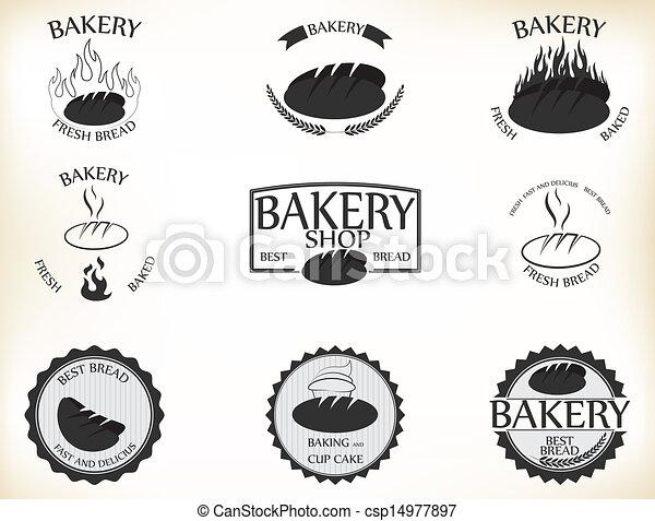 Logos Panaderia Vector Vector Panadería Etiquetas