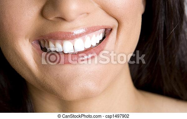 微笑, 牙齒 - csp1497902