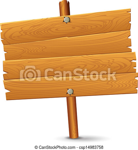 wooden sign clipart 2