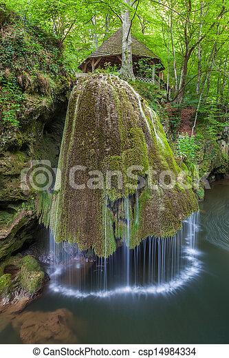 Bigar Cascade Falls in Nera Beusnita Gorges National Park, Romania. - csp14984334