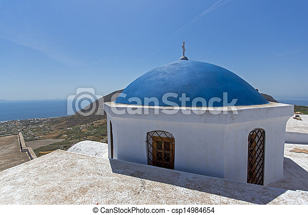 Church in Cyclades Islands - csp14984654