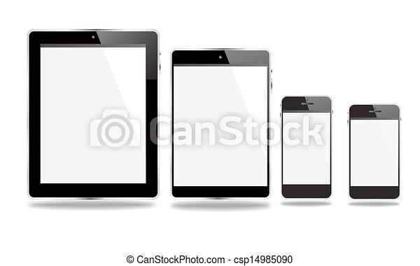 set communication mobile devices - csp14985090