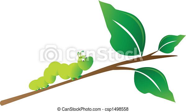Caterpillar on tree branch - csp1498558