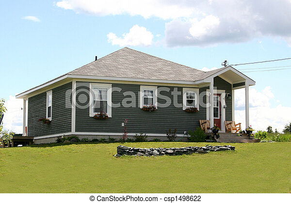 Modern Home in Rural Area - csp1498622