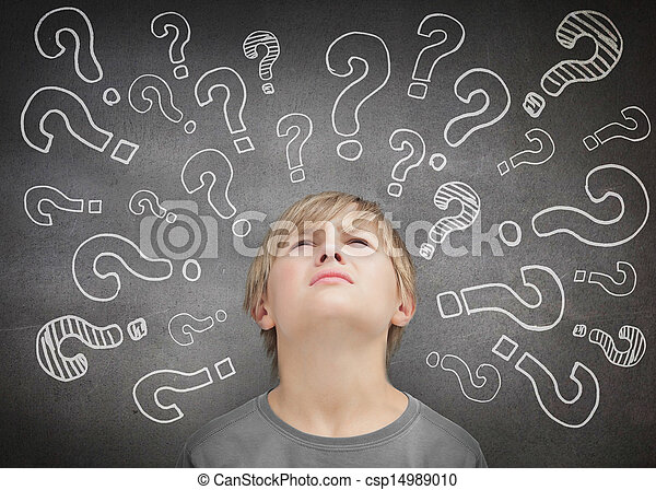 Confused child thinking - csp14989010
