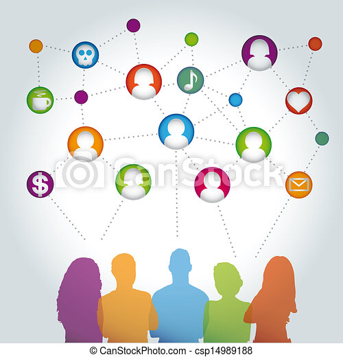 People communicating vector social  - csp14989188