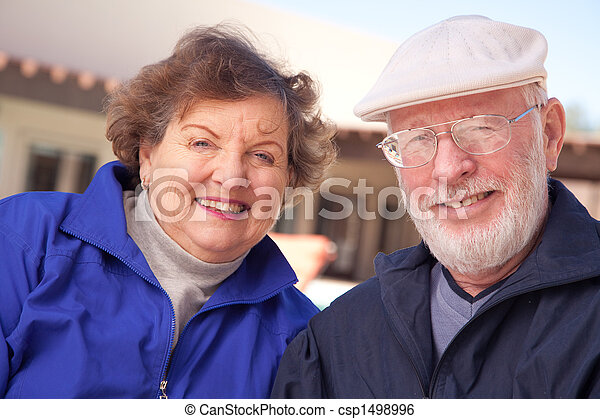 Happy Senior Adult Couple - csp1498996