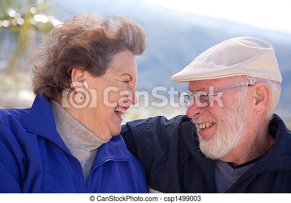 Amorous Senior Adult Couple - csp1499003