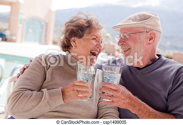 Active Senior Adult Couple - csp1499005