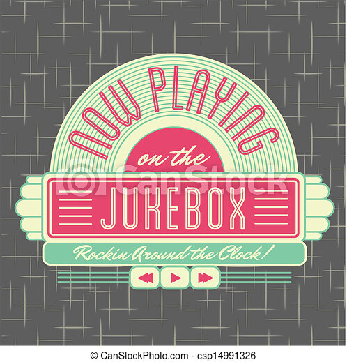 Vector - 1950s Jukebox Style Logo Design - stock illustration, royalty ...