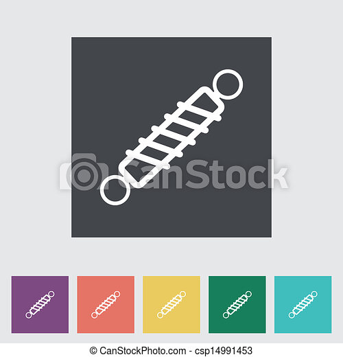 Automobile shock absorber flat single icon. - csp14991453