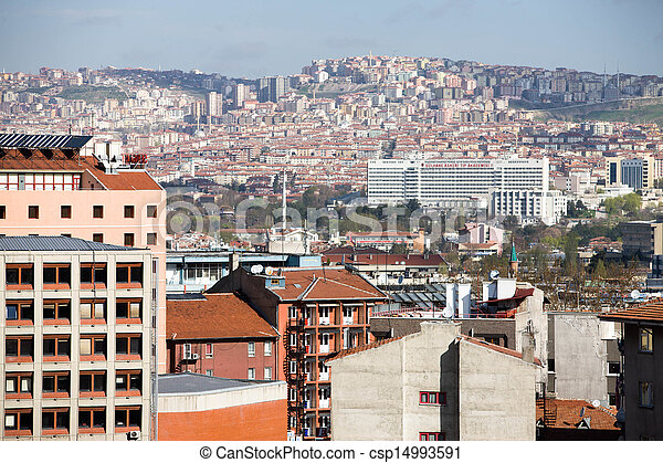 Residential and business sections of Ankara - csp14993591