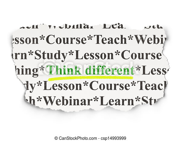 Education concept: Think Different on Paper background - csp14993999