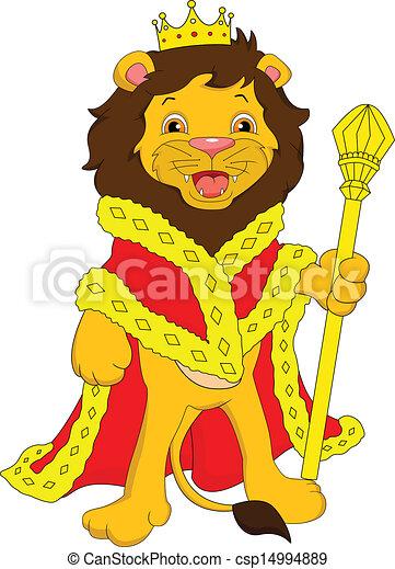 Vector of lion cartoon - illustration of lion king carton ...