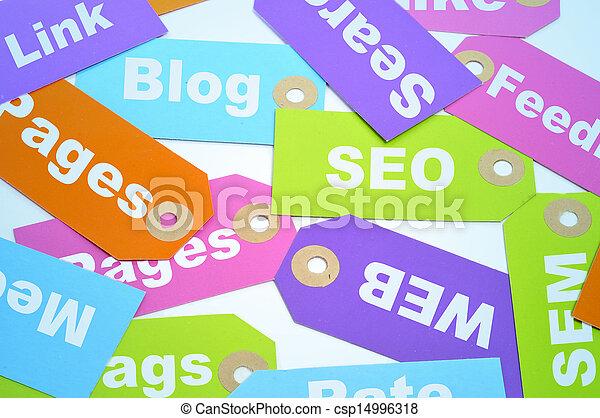 Stock photo internet marketing and website ranking stock image