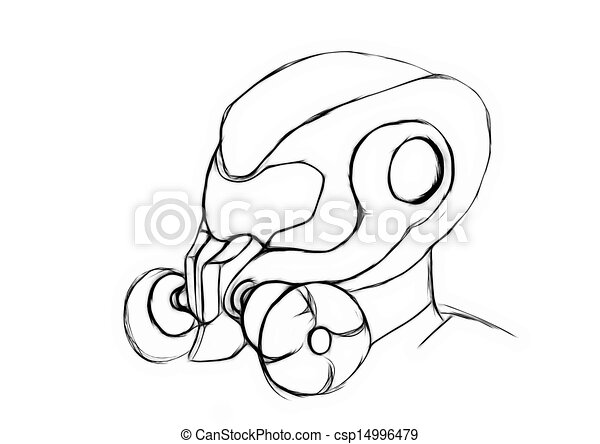 Army Gas Mask Drawing Conceptual Gas Masked Army
