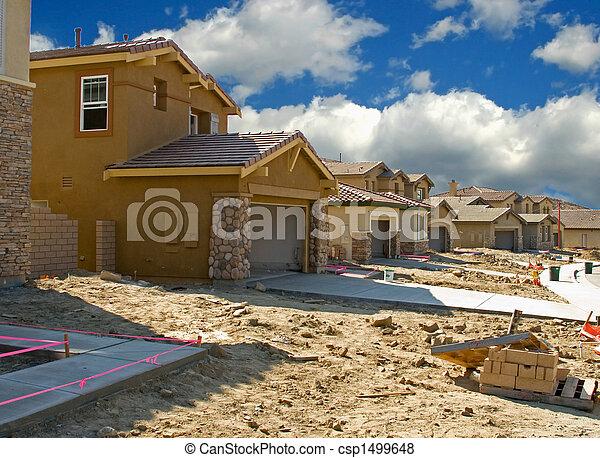 Residencial, construção - csp1499648