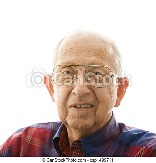Portrait of elderly man. - csp1499711
