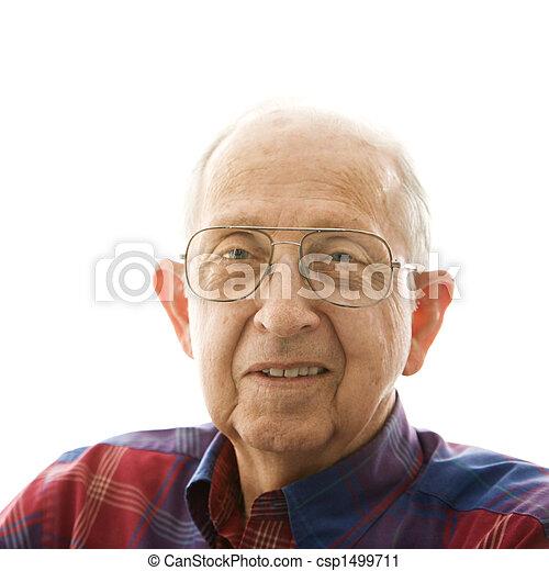 Portrait of elderly man. - csp1499711
