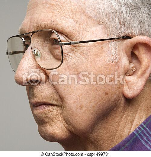 Portrait of elderly man. - csp1499731