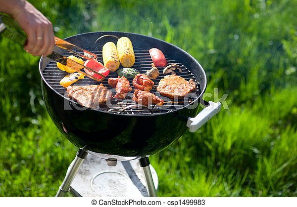 Grilling at summer weekend - csp1499983