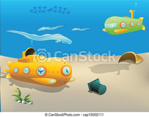 желтая подводная лодка из бумаги