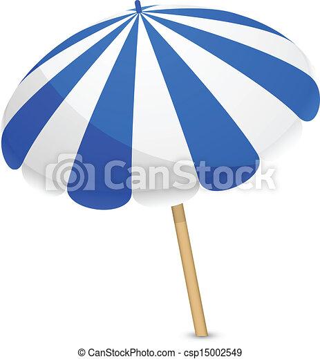 Sonnenschirm grafik  EPS Vektor von blaues, weißes, sonnenschirm - Vector, abbildung ...