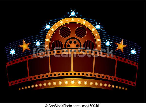 Cinema neon - csp1500461