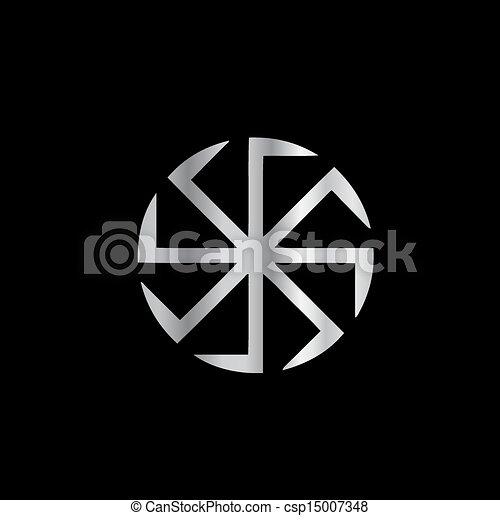 Slavik religion-The Kolovrat symbol - csp15007348